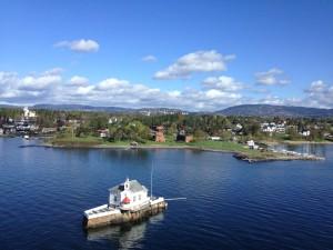 Fjorde bei der Einfahrt in den Osloer Hafen